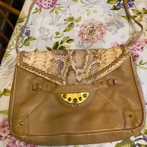 Sam Edelman Leather and Snakeskin Bag